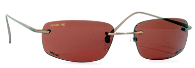 VedaloHD Rapallo Rimless Copper Frame with Copper Rose Lens
