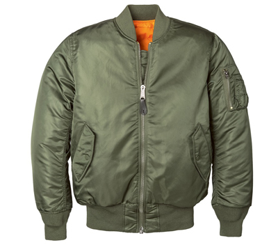 MA-1 Nylon Flight Jacket - Sage Green for Women