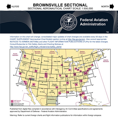 VFR: BROWNSVILLE Sectional Chart