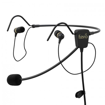 Faro Air Lightweight In-Ear Pilot Headset - XLR5 for Airbus