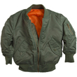 Youth Alpha MA-1 Nylon Flight Jacket - Sage Green