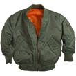 Youth Alpha MA-1 Nylon Flight Jacket - Sage Green