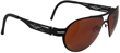 VedaloHD F-18 Stritanium Sunglasses - Black Frame / Copper Rose Lens