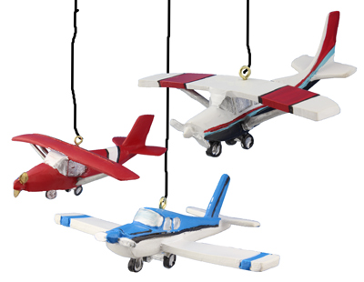 Experimental Aircraft Ornaments - Set of 3