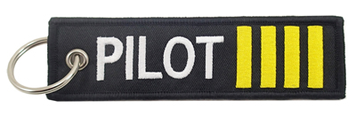 Pilot Embroidered Keychain