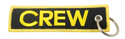 CREW Embroidered Keychain