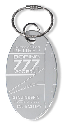 Genuine Boeing 777 PlaneTag - Tail # N318MY