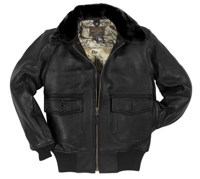 Cockpit Navy G-1 Antique Lamb Leather Jacket (Black)