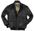 Cockpit Antique Lambskin A-2 Leather Jacket - Black