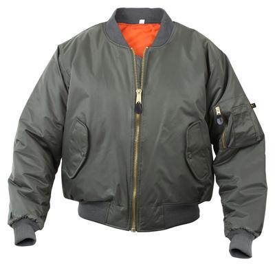 Kids MA-1 Flight Jacket - Sage Green