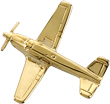Beechcraft Bonanza V-Tail Airplane Pin - Gold