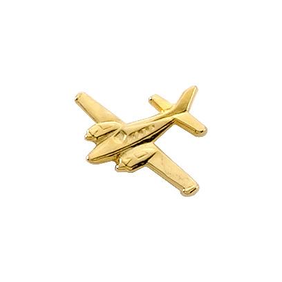Beechcraft Baron Airplane Pin - Gold