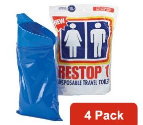 Restop1 Disposable Travel Toilet 4 Pack