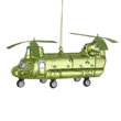 CH-46 Sea Knight Helicopter Glass Ornament