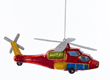 Noble Gems Glass Red Glitter Helicopter Ornament