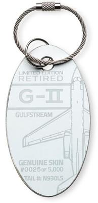 Genuine Gulfstream II PlaneTag - Tail # N930LS