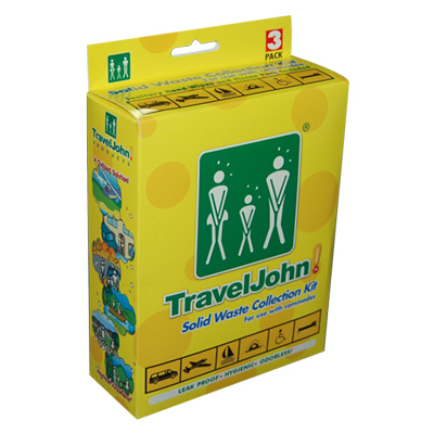 Travel John Solid Waste Collection Kit 3 Pack