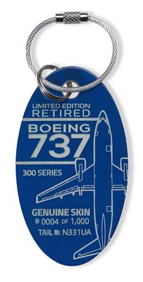 Genuine Boeing 737 PlaneTag - Tail # N331UA