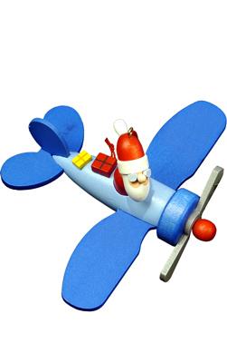 Christian Ulbricht Santa in Plane Ornament