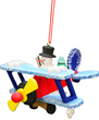 Christian Ulbricht Snowman Flying Biplane Ornament