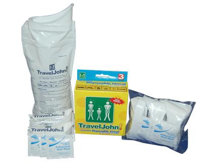 Travel John Portable Toilet 3 Pack - Resealable