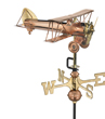 Copper Biplane Weathervane - Garden Size