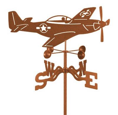 P-51 Mustang Airplane Weathervane