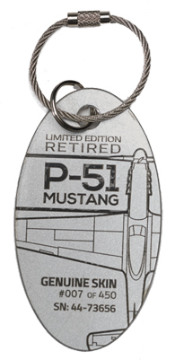 Genuine P-51 Mustang PlaneTag from Moonbeam McSwine