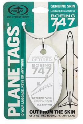 Genuine Boeing 747 PlaneTag - Tail # PP-VHN