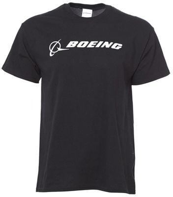 Boeing Signature Logo T-Shirt (Black)
