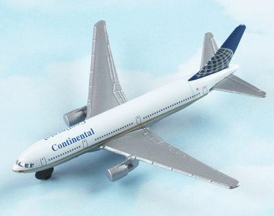 Continental Airlines Boeing 767 Hot Wings Die-Cast Airplane