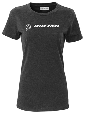 Boeing Signature Logo Women's T-Shirt (Black)