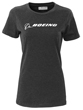 Boeing Signature Logo Women's T-Shirt (Black)