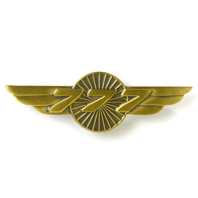 Boeing 777 Heritgage Wings Pin