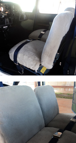 Airplane Sheepskin Seat Covers - Front Seats