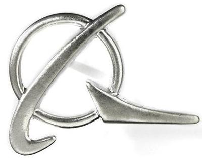 Boeing Symbol Lapel Pin - Silver