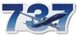 Boeing 737 Die-Cut Sticker
