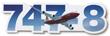 Boeing 747-8 Die-Cut Sticker