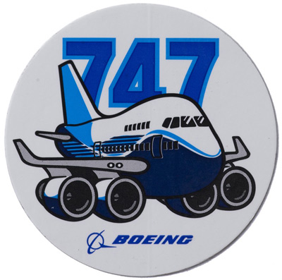 Boeing 747 Pudgy Sticker