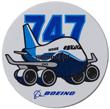 Boeing 747 Pudgy Sticker