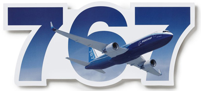 Boeing 767 Die-Cut Sticker