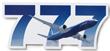 Boeing 777 Die-Cut Sticker