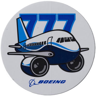 Boeing 777 Pudgy Sticker