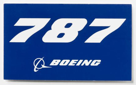 Boeing 787 Dreamliner Sticker