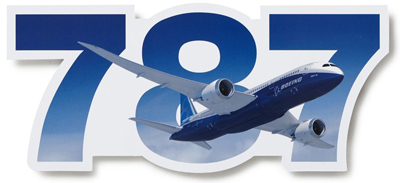 Boeing 787 Dreamliner Die-Cut Sticker
