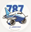 Boeing 787 Dreamliner Pudgy Sticker