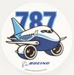Boeing 787 Dreamliner Pudgy Sticker