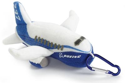 Boeing Stuffed Pudgy 737 Keychain