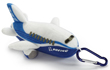 Boeing Stuffed Pudgy 777 Keychain