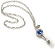 Necklace Lanyard and Badge Reel with Blue Stone